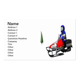 Snow Mobiling Business Card