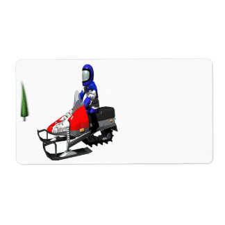 Snow Mobiling Label