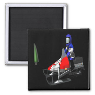 Snow Mobiling Magnet