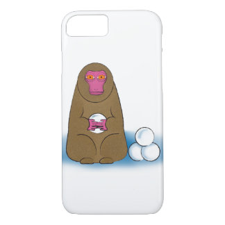 Snow Monkey Snowball Fighter iPhone 7 Case