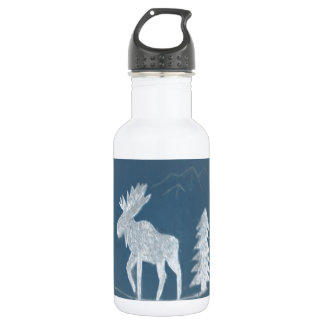 Snow Moose Stainless Steel Water Bottle