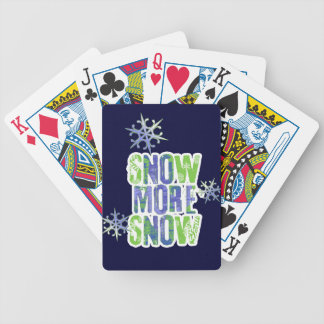 Snow More Snow or No More No Bicycle Playing Cards
