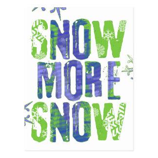 Snow more snow! Or S[no]w more S[no]w? Postcard