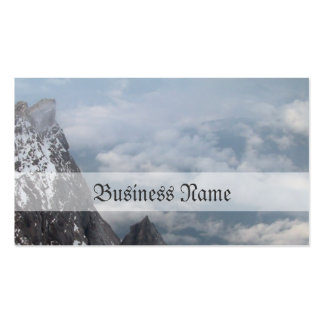 Snow mountain business card