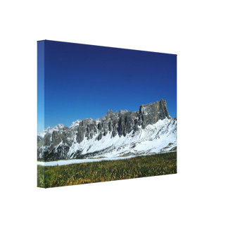 Snow mountain in Italy canvas print