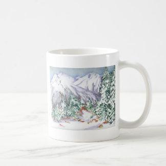 Snow mountain coffee mug