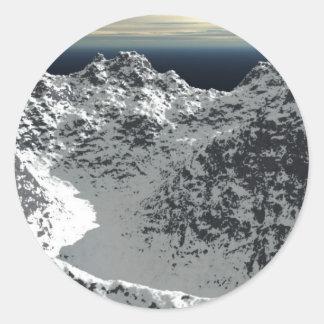 Snow_Mountain_new_view_by_Xaritor19 Pegatinas Redondas