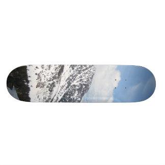Snow Mountain Ranges Skateboard Deck