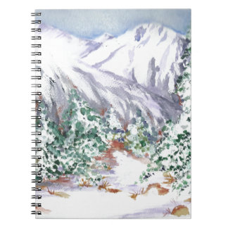 Snow mountain spiral notebook