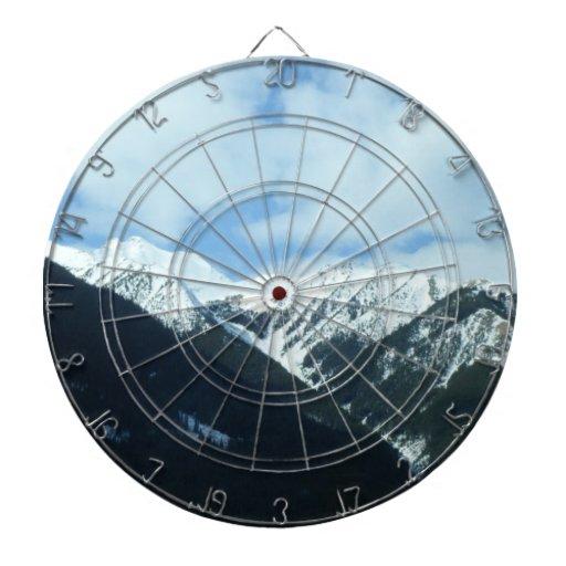 Snow Mountains Dart Board