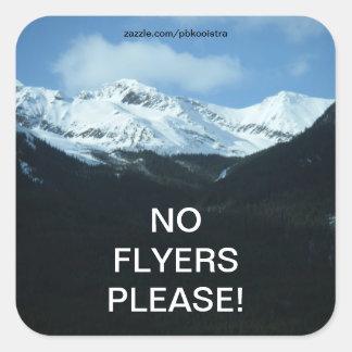 Snow mountains No Flyers Please Sticker