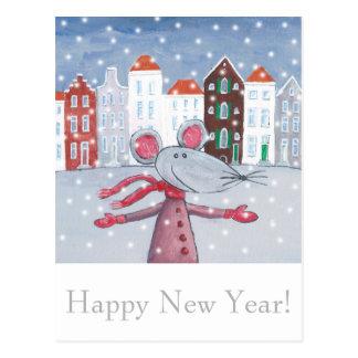 Snow Mouse Postcard