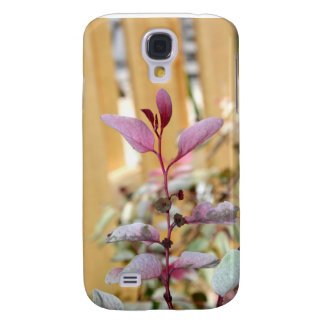 snow moutain plant pink purple against wood.jpg galaxy s4 case