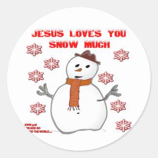 Snow Much Classic Round Sticker