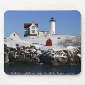 Snow - Nubbles Lighthouse Mousepad mousepad