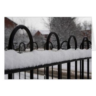 Snow on a fence card