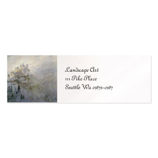 Snow on a Misty Mountain Double-Sided Mini Business Cards (Pack Of 20)