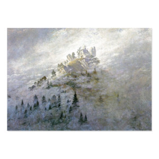 Snow on a Misty Mountain Large Business Cards (Pack Of 100)