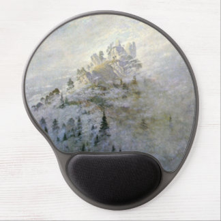 Snow on a Misty Mountain Gel Mouse Pad