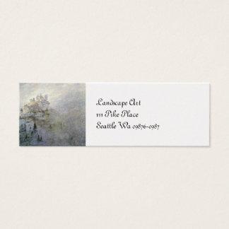 Snow on a Misty Mountain Mini Business Card