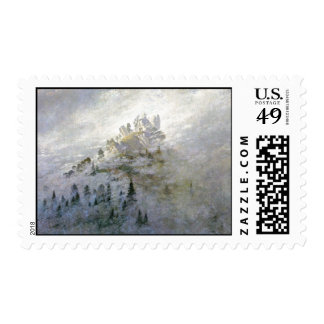 Snow on a Misty Mountain Postage