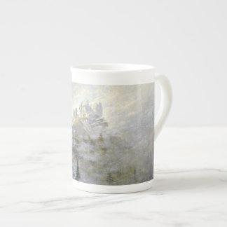 Snow on a Misty Mountain Porcelain Mug