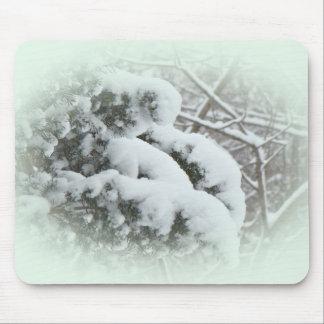 Snow on Arbor Vitae Mouse Pad