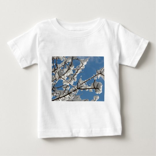 snow on branches baby T-Shirt