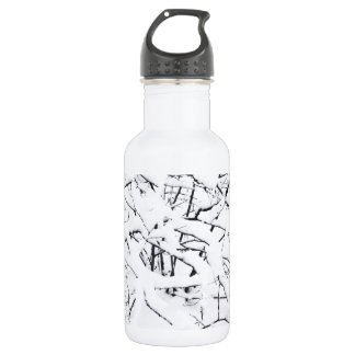 Snow on branches of the trees 18oz water bottle