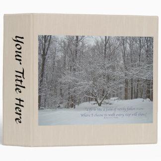 Snow on Dogwood Tree Binder