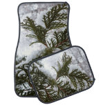 Snow on Evergreen Branches Car Mat