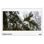 Snow on Evergreen Branches Wall Decal