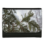 Snow on Evergreen Branches Winter Nature Photo Wallets