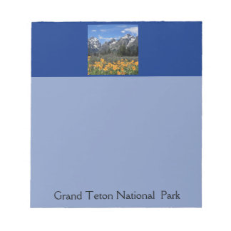 Snow on Grand Teton National Park in Spring Note Pad
