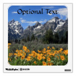 Snow on Grand Teton National Park in Spring Wall Decal