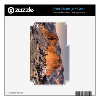 Snow on Gray Rock Skins For iPod Touch 4G