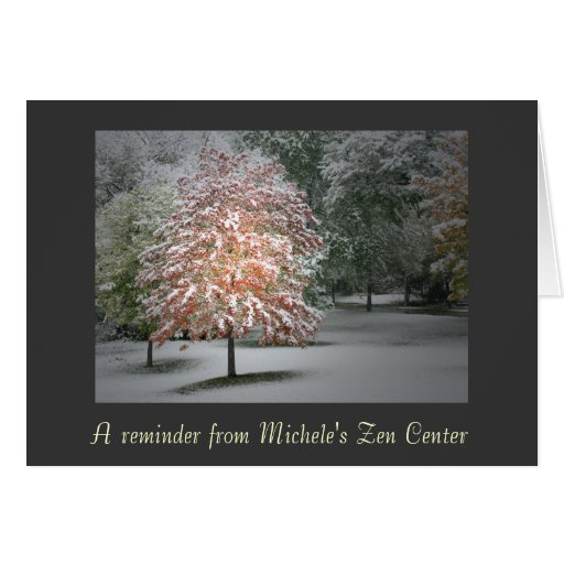 Snow on Maple Trees Note Cards