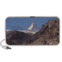 Snow on Matterhorn Blue Sky Alpine Forest Doodle iPod Speakers at  Zazzle
