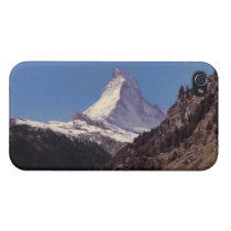 Snow on Matterhorn Blue Sky Alpine Forest iPhone 4 iPhone 4/4S  Cover at Zazzle