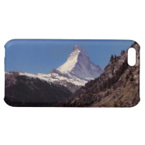 Snow on Matterhorn Blue Sky Alpine Forest iPhone 5 Case For  iPhone 5C at Zazzle