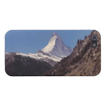 Snow on Matterhorn Blue Sky Alpine Forest iPhone 5 Cases For  iPhone 5 at Zazzle