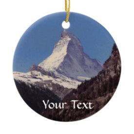 Snow on Matterhorn Mountain Hanging Decoration ornament