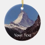Snow On Matterhorn Mountain Hanging Ornament at Zazzle
