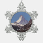 Snow On Matterhorn Mountain Hanging Ornament at Zazzle