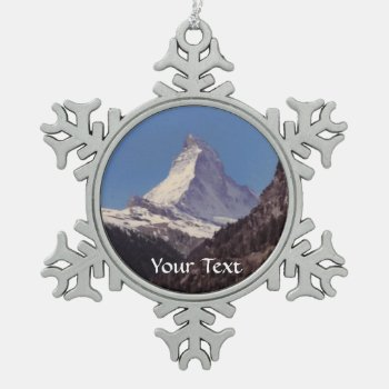 Snow On Matterhorn Mountain Hanging Ornament by DigitalDreambuilder at Zazzle