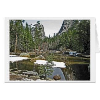 Snow on Mirror Lake - Yosemite Stationery Note Card