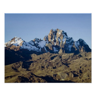 Snow on Mount Kenya Poster