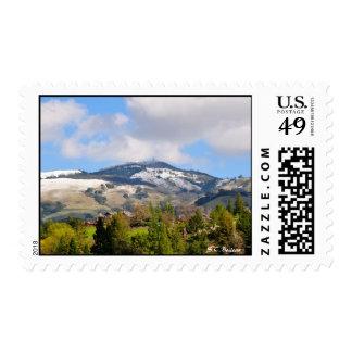 Snow on Mt. Diablo Stamps