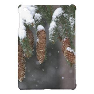 Snow on pine iPad mini cover