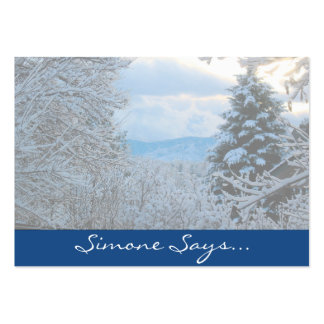 Snow on Pine Trees in Colorado Rocky Mountains Large Business Cards (Pack Of 100)